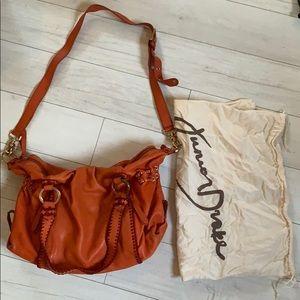 Junior Drake Orange leather purse
